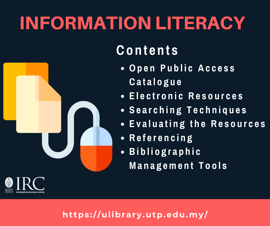 Information Literacy for ROs, RS and Post Doc